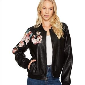 JOE'S COLLECTION EMBROIDERED POLY JACKET